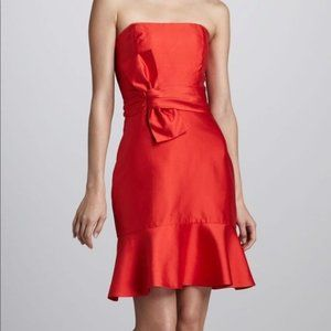 Kate Spade Justina Red Holiday Christmas Strapless Bow Dress